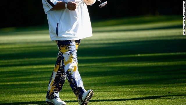 Daly, who shot 12 at the par-four 16th hole on Innisbrook's Copperhead course, is renowned for his flamboyant fashion sense.