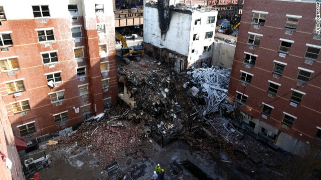 Explosion destroys East Harlem buildings