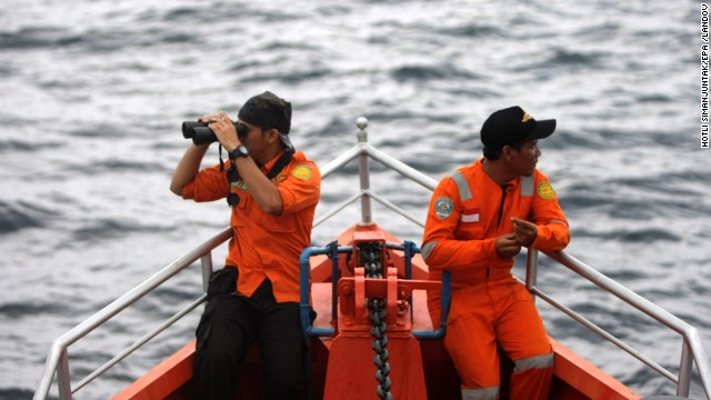 A Indonesian ship heads to the Andaman Sea during a search operation near the tip of Sumatra, Indonesia, on March 15.
