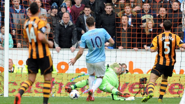 David Silva put City ahead soon after, then Edin Dzeko sealed a 2-0 victory with a late goal to put City within six points of Chelsea, having three matches in hand.