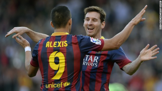 Lionel Messi and Alexis Sanchez were both on target in Barcelona's win over Osasuna.