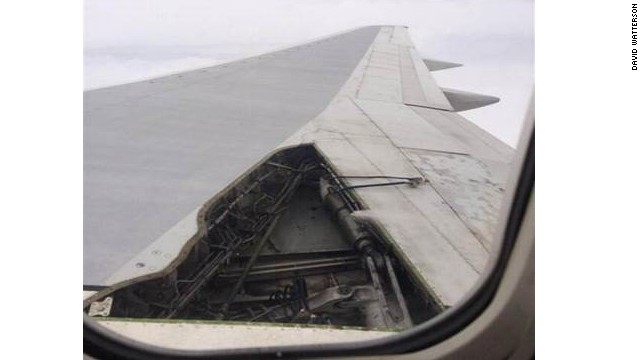 A Delta plane, a Boeing 757, lost part of its wing panel during a flight from Orlando to Atlanta Sunday.
