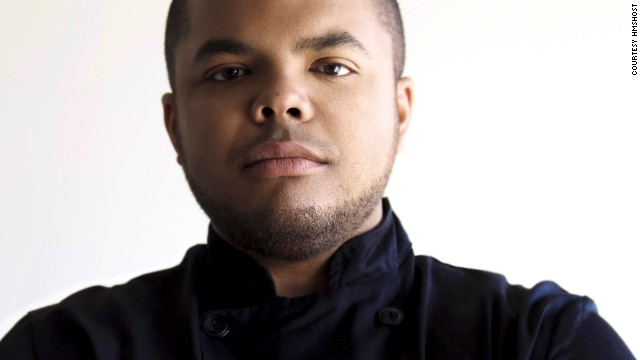 "More at Toronto Pearson International Airport! Canadian celebrity chef, cooking show host and cookbook author, Roger Mooking, gives North American comfort food a ""twist"" -- scones with lavender honey and peameal bacon are an example."
