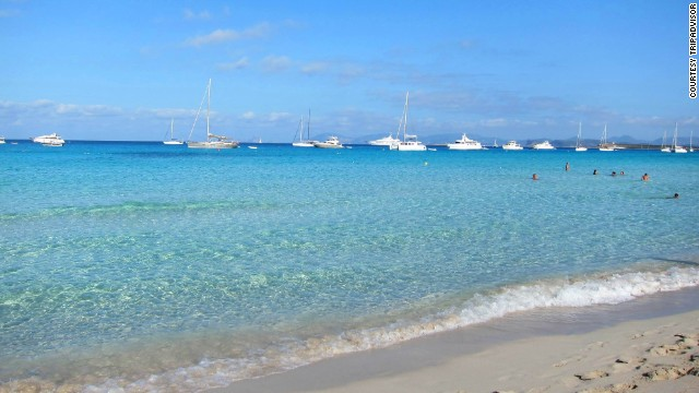 Playa de ses Illetes on Formentera in Spain's Balearic Islands broke into the top 10 this year, jumping from No. 12 to No. 6.