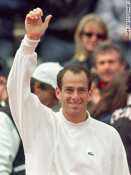 "Lacoste introduced his ""Equijet"" tennis racket to the up-and-coming Guy Forget, and the pair would go on to forge a special relationship. Forget wore ""Lacoste"" clothing as he helped France win its first Davis Cup for 59 years in 1991."