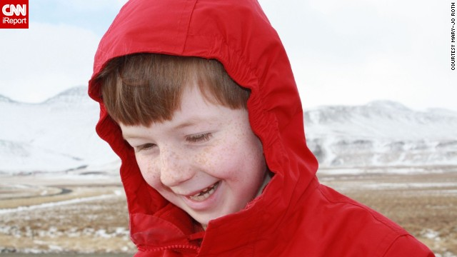 "<a href='http://ireport.cnn.com/docs/DOC-1097852 '>Mary-jo Roth</a> says her family went to Iceland for the adventure. ""To make the trip special we made sure the kids were active participants."" John, then age 6, got to choose some of their activities, including hiking a volcano."