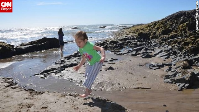 <a href='http://ireport.cnn.com/docs/DOC-1097353'>Matt Swyndle</a> and his wife traveled with their daughters Layla, 4, (pictured) and Maren, 2, last summer to Lincoln City, Oregon. His wife had been there with her own family as a child.