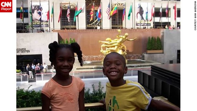 <a href='http://ireport.cnn.com/docs/DOC-1097158'>Quia Querisma</a> has taken her kids to New York every year since they were babies to see her extended family, This trip, when Quiana was 8 and Brandon was 6, was the first time they were able to remember all the tourist sites.