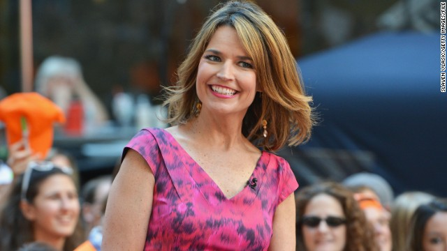 "Savannah Guthrie made a surprise announcement in March when she revealed she's both married and expecting. The ""Today"" show anchor wed Mike Feldman on March 15, and she let it slip to her wedding guests that she was also four months pregnant."