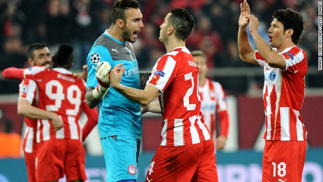 Olympiacos was left kicking itself last season after taking a 2-0 advantage in the first leg of its second round tie against Manchester United. The Greek side was in pole position to qualify for the quarterfinal but was beaten 3-0 in the second leg at Old Trafford.