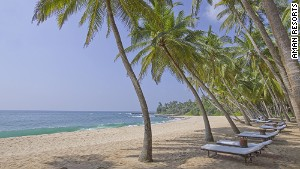 Amanwella resort\'s beach in Tangalle.