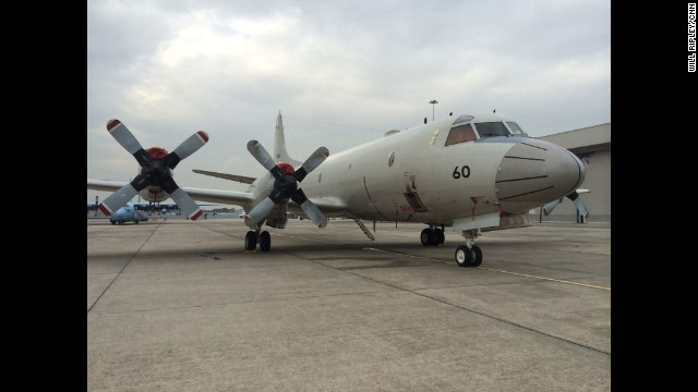 """A P-3 Orion from Japan waiting to search for the missing MH370 at Subang Airport. It can cover 15,000 square miles in one nine-hour flight."" By CNN's Will Ripley, March 17. Follow Will on Instagram at instagram.com/willripleycnn."