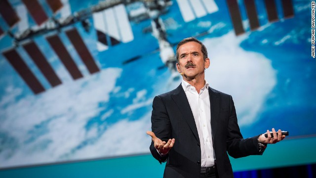 Retired astronaut Chris Hadfield speaks at TED2014 in Vancouver, B.C.