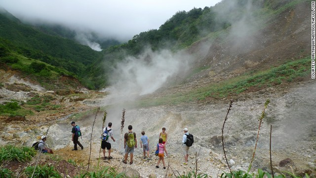 The aptly named Valley of Desolation is filled with bubbling mineral pools, fast-flowing rivers and powerful jets of steam shooting out of the earth -- and far removed from the mainstream Caribbean experience.