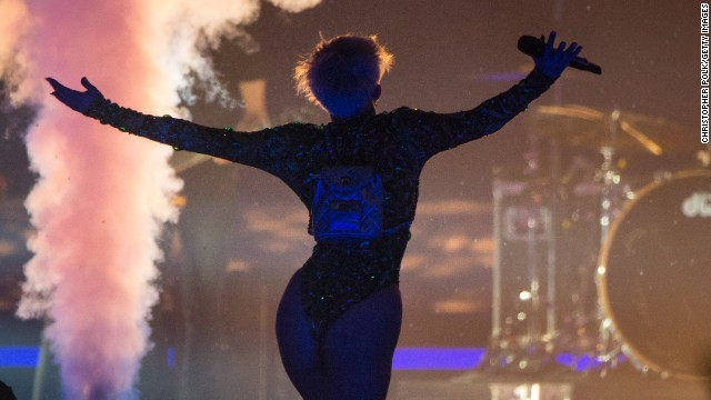 One of Miley Cyrus' tour buses catches fire