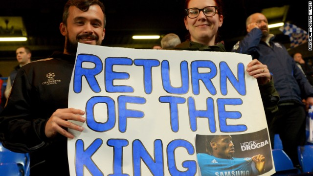 Chelsea fans gave Didier Drogba a huge ovation as he returned to the club where he enjoyed the most successful spell of his career.