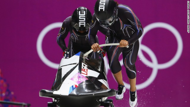 Meyers drove the two-woman bobsleigh team -- along with former track star Lauryn Williams -- that won silver at February's Sochi Winter Olympics.
