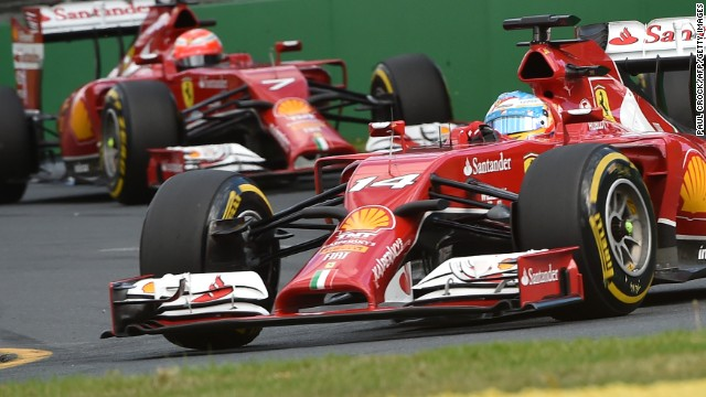 Ferrari's Fernando Alonso and Kimi Raikkonen finished fourth and seventh respectively at the Australian Grand Prix.