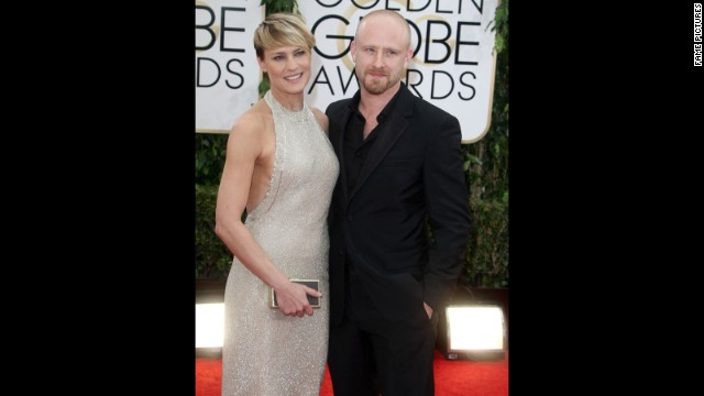 "Robin Wright, 47, has found love with 33-year-old actor Ben Foster, and she knows their age difference has raised eyebrows. ""If it was the inverse -- a younger woman with an older man -- not many would bat an eye,"" <a href='http://www.harpersbazaar.com/celebrity/news/rita-wilson-interviews-robin-wright-0414' target='_blank'>she tells Harper's Bazaar in its April issue</a>. ""But an older woman with a younger man -- it's almost judged the way different religions judge doctrines of other religions."" Wright, who announced the couple's engagement in January, is just one star who's open-minded about an age gap."