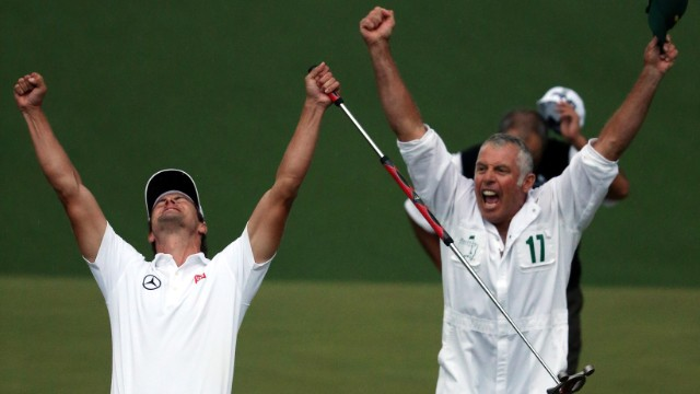 Steve Williams, who helped Adam Scott (pictured left) win his first Masters glory a year ago, is the most successful caddy in golf history.