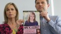 Kate and Gerry McCann hold an age-progressed police image of their daughter Madeleine during a news conference to mark the 5th anniversary of her disappearance, on May 2, 2012.