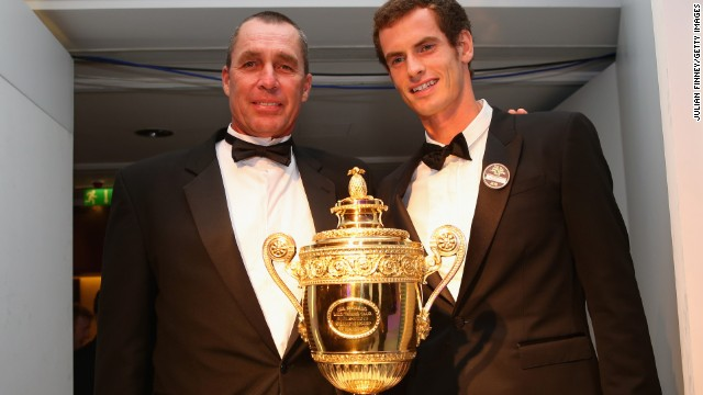 With coach Ivan Lendl, left, by his side, Andy Murray ended Britain's 77-year men's singles drought at Wimbledon.