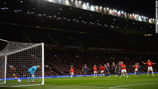 Van Persie completed his hat-trick on a free kick early in the second half.