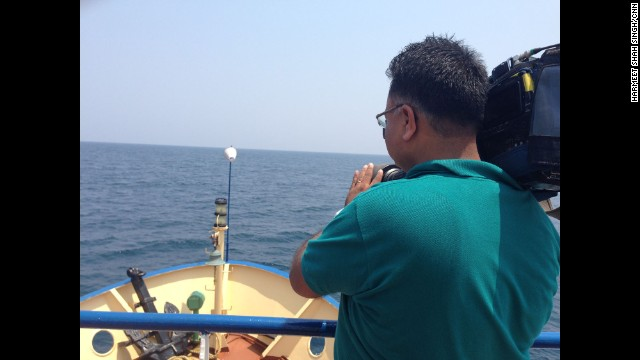 """A sail through the Andaman sea with CNN cameraman Rajesh Mishra, from where India launched its search efforts for the lost plane MH370."" By CNN's Harmeet Shah Singh, March 16. Follow Harmeet on Instagram at instagram.com/harmeetshahsingh."