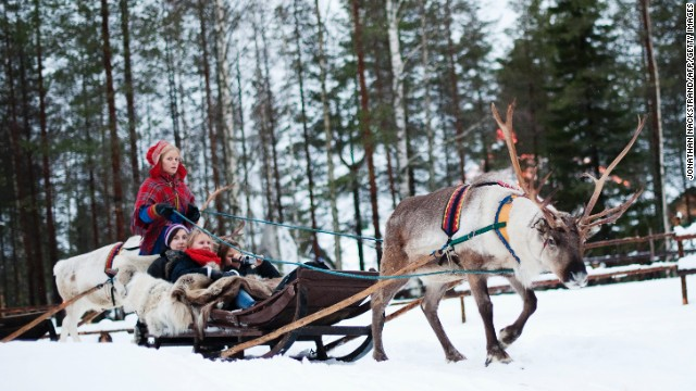 <strong>Finland</strong>, the seventh-happiest country, is home to Santa Claus. You can ride a reindeer sled in the <a href='http://www.santaclausvillage.info/' target='_blank'>Santa Claus Village</a>, an amusement park near Rovaniemi in the Lapland region.