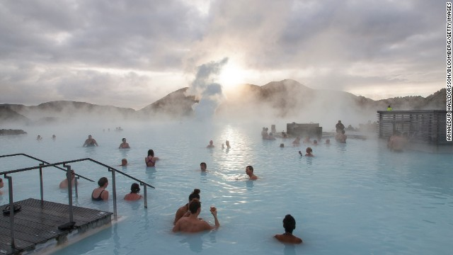 <strong>Iceland</strong> may be the ninth-happiest country in the world in part due to its incredible hot springs and thermal-heated swimming pools, including its most famous spa, the <a href='http://www.bluelagoon.com/' target='_blank'>Blue Lagoon</a>.