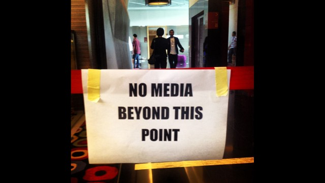 The media is kept out to respect the privacy of families of passengers and crew on MH370. By CNN's Mark Phillips, Kuala Lumpur, March 16. Follow Mark on Instagram at instagram.com/markpcnn.
