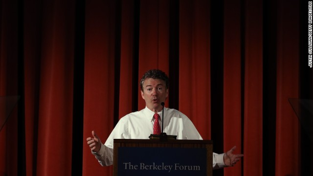 Republican Sen. Rand Paul of Kentucky spoke on the issues of privacy and curtailing domestic surveillance on Wednesday, March 19, in the liberal hotbed of the University of California at Berkeley. Paul has become one of the most visible freshmen senators in recent history and is considering a run for the White House. Click through the images for highlights of Paul's political career.