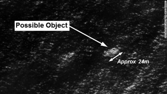A closer look at the satellite shot of possible debris from Malaysia Airlines Flight 370.