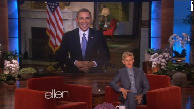 Obama talks health care, 'Scandal' and celebrity selfies with Ellen