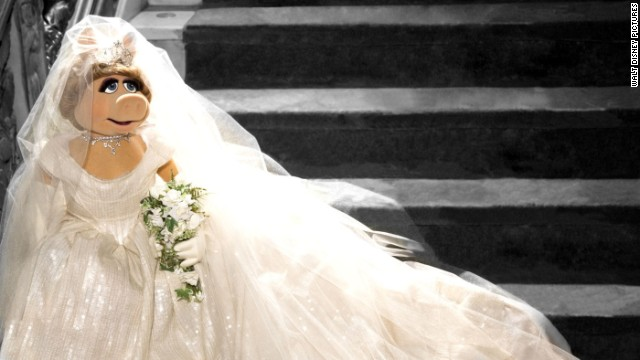 "Miss Piggy won't say whether she and Kermit are finally going to legitimately marry in the new movie, ""Muppets Most Wanted,"" but she has a Vivienne Westwood-designed bridal gown at the ready just in case. ""Vivienne Westwood is fabulous -- just like moi,"" Piggy said in a statement. ""When I asked her to design this wedding dress for moi's new movie 'Muppets Most Wanted,' she was thrilled and I was thrilled. The only one a bit iffy about it was the frog."""