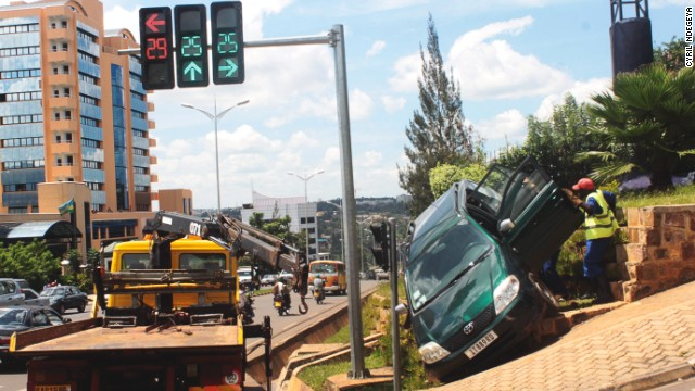 Professional photographer Cyril Ndegeya is passionate about taking pictures of traffic accidents.