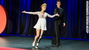 Dancers Adrianne Haslet-Davis and Christian Lightner at TED2014