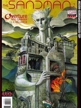 "The second issue of ""Sandman: Overture,"" the first ""Sandman"" comic book from acclaimed author Neil Gaiman in 10 years, comes out on Wednesday and CNN has an exclusive look at the first five pages. This cover for the issue is representative of the surreal, unusual artwork the series is known for. ""Sandman: Overture"" will be a six-issue miniseries."