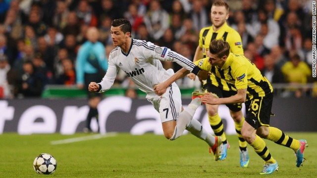 <strong>Real Madrid v Borussia Dortmund</strong>: Real will see a chance for revenge after last year's humbling <a href='http://edition.cnn.com/2013/04/24/sport/football/football-champions-league-dortmund-real-madrid/index.html'>4-1 defeat in Dortmund</a>. The second-leg loss in the semifinal cost Real a shot at the trophy, but they will be favorites this time.