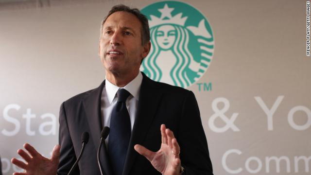 9. Howard D. Schultz, Starbucks - Approval: 93%.