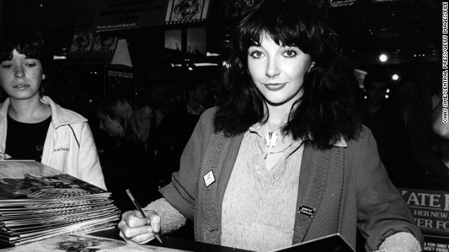 Kate Bush signs copies of her album