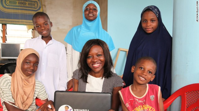 "Regina Agyare (middle), founder of Soronko Solutions, a software development company in Ghana, has started an initiative called ""Tech Needs Girls."""