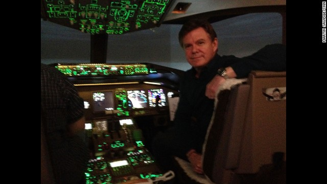 """Me at the controls of a 777-200 over South China Sea. It's a simulator but seems like the real deal."" By CNN's Martin Savidge, Mississauga, Ontario, March 14. Follow Martin on Instagram at instagram.com/martinsavidge."