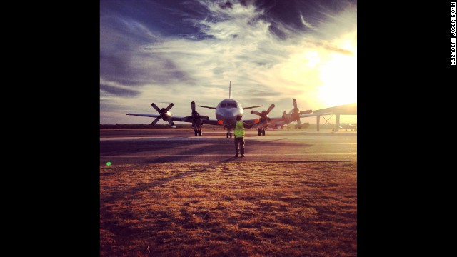 """Anxiously waiting on this Australian P-3 Orion's Flying Lieutenant to tell us what he saw (or didn't see) during his MH370 search mission."" By CNN's Elizabeth Joseph at RAAF Base Pearce, March 22. Follow Elizabeth on Instagram at instagram.com/ejo1224."