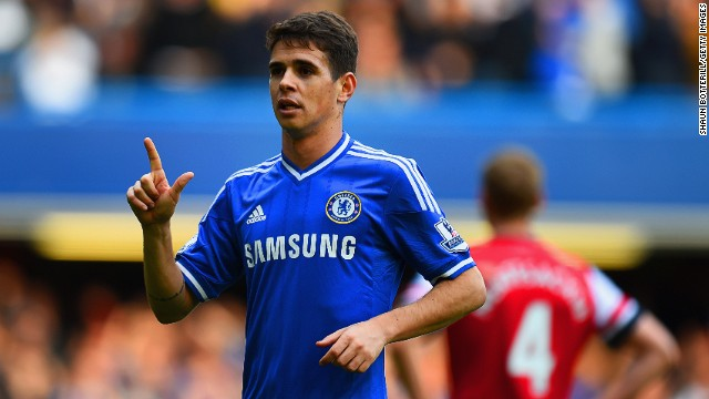 "Chelsea's Oscar scored twice in the 6-0 thrashing of Arsenal at Stamford Bridge. Arsene Wenger shouldered the blame for the loss. ""This defeat is my fault. I take full responsibility for it,"" the Frenchman said. ""I don't think there's too much need to talk about the mistakes we made. We got a good hiding today."