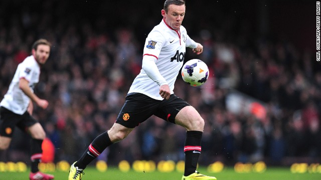 Wayne Rooney scored a spectacular goal from from just inside the West Ham half at Upton Park on Saturday. The England international's 45-yard strike put United on the way to all three points.