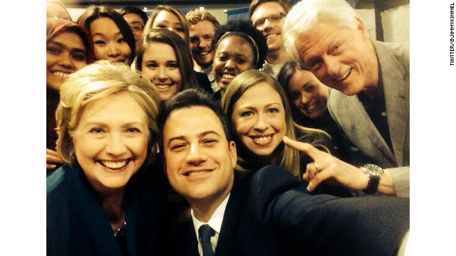 Clintons talk policy (not so much candidacy) with Jimmy Kimmel