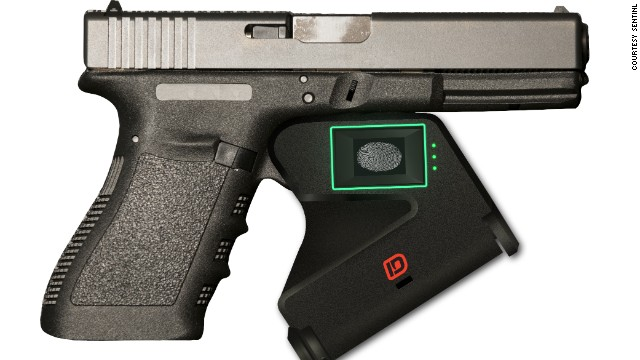 "Smart guns aim to use technology to prevent gun misuse.<!-- --> </br>The ""Identilock"" device is at the prototype stage. It attaches to the trigger and uses fingerprint sensors to ensure the gun can only be fired by an authorized user."