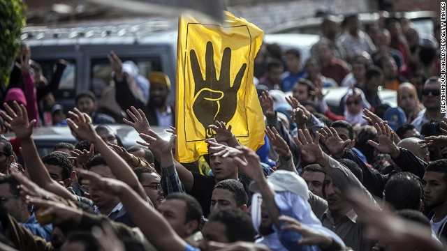 Muslim Brotherhood and ousted President Mohamed Morsy supporters in Cairo on November 29, 2013.