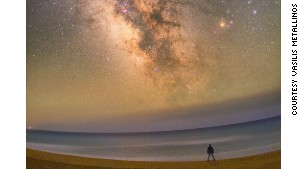 Chalikounas Beach along Lake Korission is one of the best spots for astrophotography in Corfu.